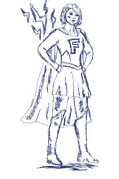 Feminist superhero
